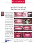 Article   aesth dent. final proof 3-9-'10