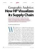 Geographic Analytics - How HP Visualises its Supply Chain