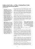 Article For Lyon 1998 Unctad Summit