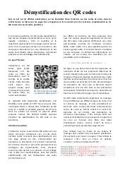 Démystification des QR codes