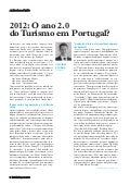 """2012: O ano 2.0 do Turismo em Portugal ?"" Revista hotelaria jan 2012"