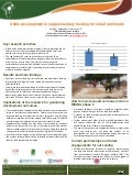 Skills development in supplementary feeding for small ruminants