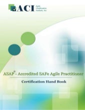Accredited SAFe Agile Practitioner ...
