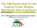 The ASB Partnership for the Tropical Forest Margins: Benchmark Sites Experience