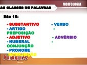 As classes de palavras: substantivo