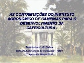 AS  CONTRIBUIÇÕES  DO  INSTITUTO AG...