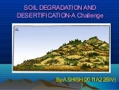 Soil degradation and desertificati...