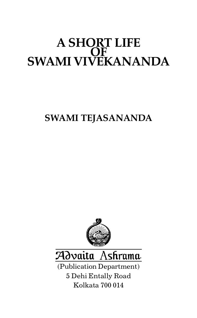 Very short essay on vivekananda