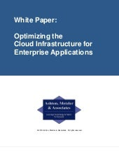 Optimizing the Cloud Infrastructure...