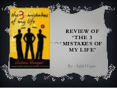 3 mistake of my life book review