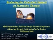 Reducing maritime threats