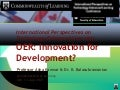 Open Education Resources: Innovation for Development