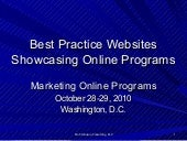 Best Practice Websites to Showcase Online Learning