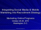 Integrating Social Media and Mobile Marketing into Recruitment Strategy