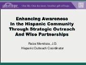 Enhancing Awareness In the Hispanic...