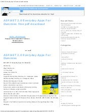 Asp.net 2.0 everyday apps for dummi...