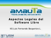 Aspectos Legales del Software Libre