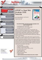 ASP.NET w Visual Web Developer 2008...