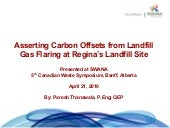 Asserting carbon offsets from landf...