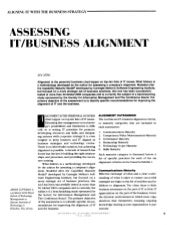 Assessing business it alignment mat...