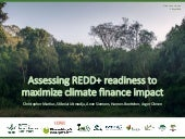 Assessing redd+ readiness to maximize climate finance impact