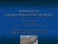 Assessment Of Complex Regional Pain Syndrome  Dr Candy Mccabe