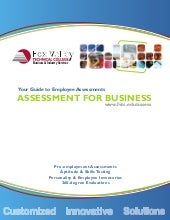 FVTC Employee Assessment Guide