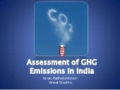 Assessment of GHG Emissions in India