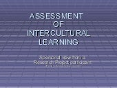 Assessment Of Intercultural Learnin...