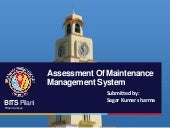 Assessment of maintenance managemen...