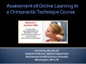 Assessment of online learning