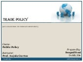 Trade policy (Indian Context)