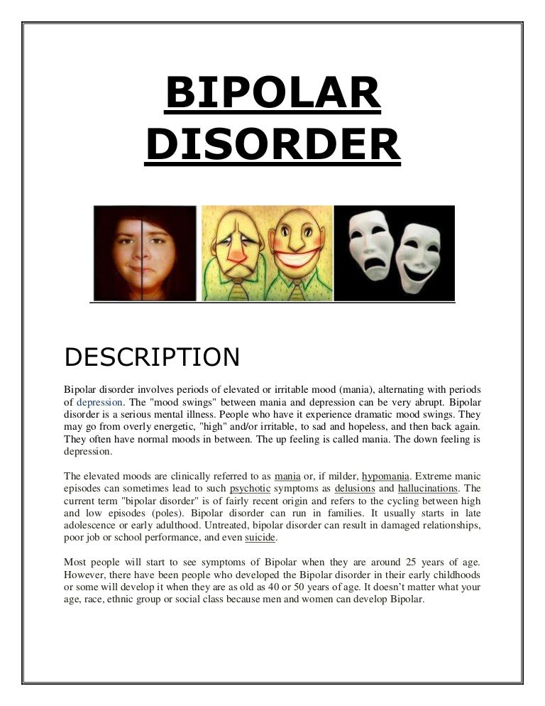 assignment on bipolar disorder