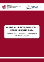 Assilea - novità leasing 2014