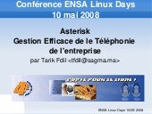 Asterisk Gestion Efficace de la Tel...