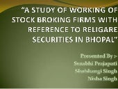 A study of working of stock broking