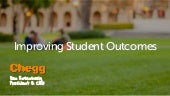 Improving Student Outcomes in Higher Education