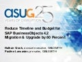 Reduce timeline and budget for sap business objects 4.2 migration and upgrade by 80 percent