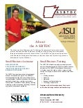 ASU SBTDC Services Flyer