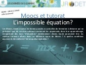 Moocs et tutorat, l'impossible équa...