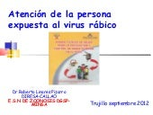Atencion integral rabia trujillo 2012