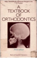 A textbook of orthodontics by t. d. foster 1991