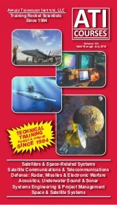ATI Space, Satellite, Radar, Defense, Systems Engineering, Acoustics Technical Training Catalog Vol 123