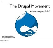 The Drupal Movement: where do you fit in?