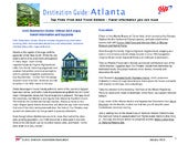 Travel Guide to the City of Atlanta GA