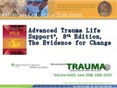 ATLS 8e, The Evidence for Change