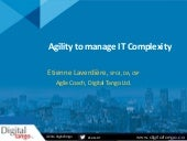 Agility to manage IT Complexity