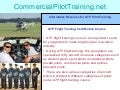 Basic Requirements for Aviation ATP Flight Training