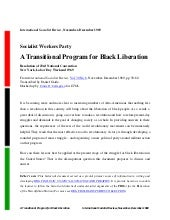 A Transitional Program for Black Li...