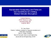 Sustainable Computing and Telecom C...
